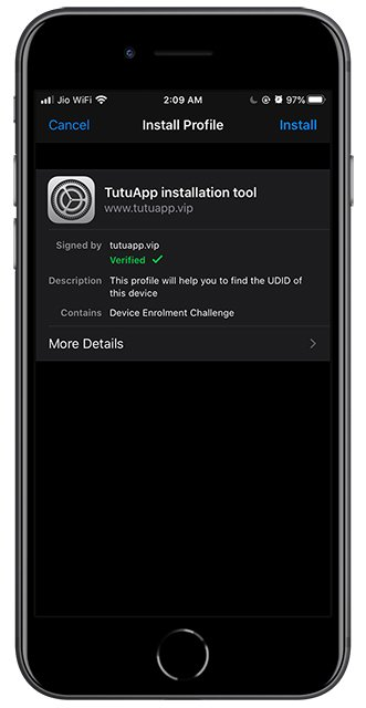 tutuapp install profile settings